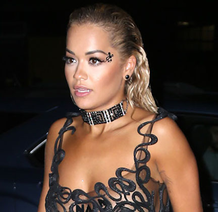 We Can't Believe Rita Ora Got Away With Wearing Something THIS Racy On Stage–Her Boobs Are Hanging Out!