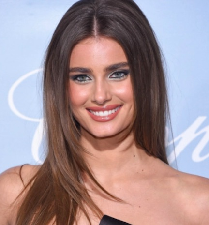 Taylor Hill Is Getting So Many Likes For Wearing This Dress On Instagram—Did We Mention It's COMPLETELY Sheer?!