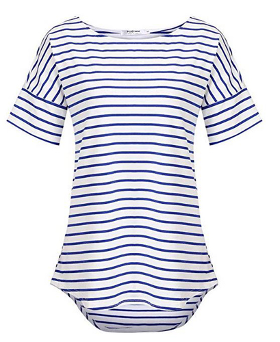 Blue and White Stripe Tee