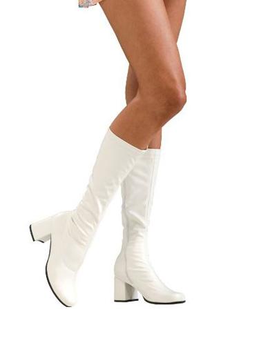 white go-go boots