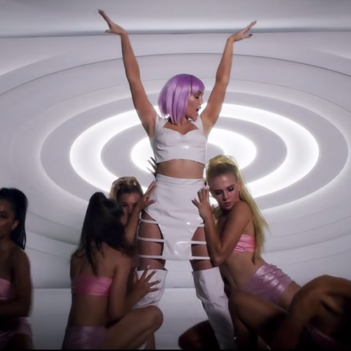 Miley Cyrus In A Purple Wig On 'Black Mirror'? This Ashley O Costume Has Halloween Written All Over It.