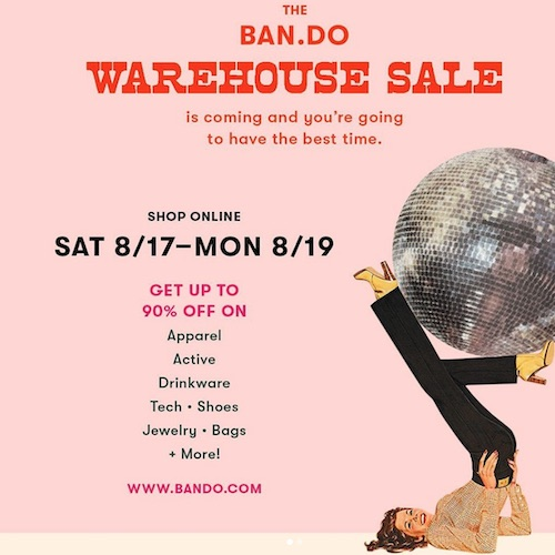 This Weekend Only! Ban.do's Warehouse Sale Is Back And Select Items Are Up To 90% Off