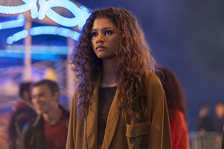 zendaya as rue in euphoria
