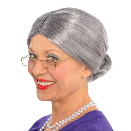 old lady wig faceapp challenge halloween costume