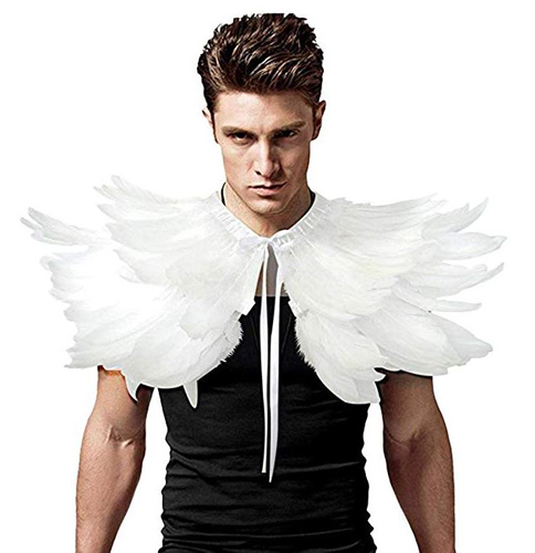 Feather Shrug Halloween Costume