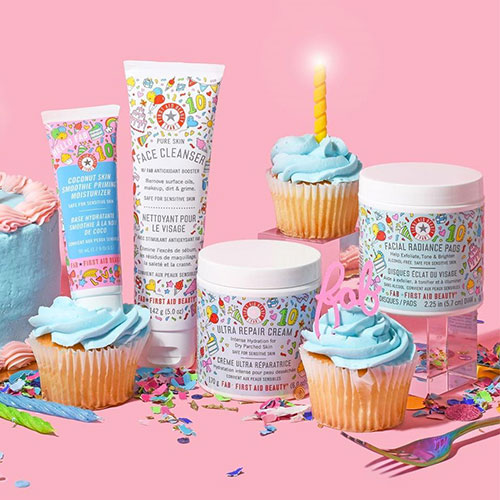 First Aid Beauty Is Celebrating Its 10th Birthday With A Limited Edition Party-Themed Collection