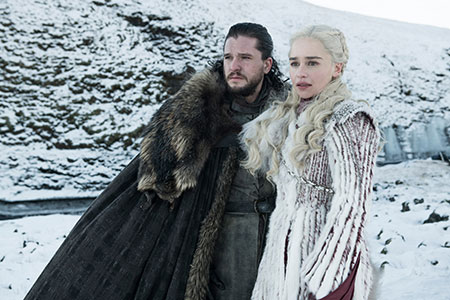 emilia clarke and kit harrington from game of thrones