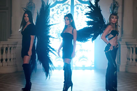 ariana grande miley cyrus lana del rey dont call me angel music video costume