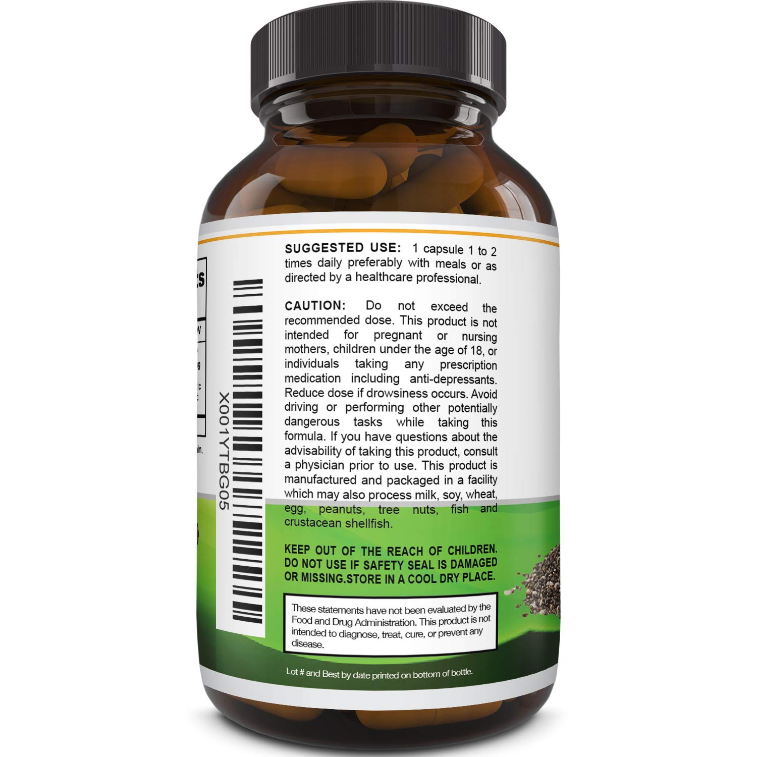 Natures Design Pure Chia Seed Extract Capsules