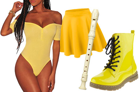 lizzo vmas good as hell performance yellow outfit halloween costume