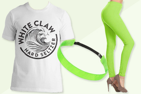 womens white claw halloween costume natural lime