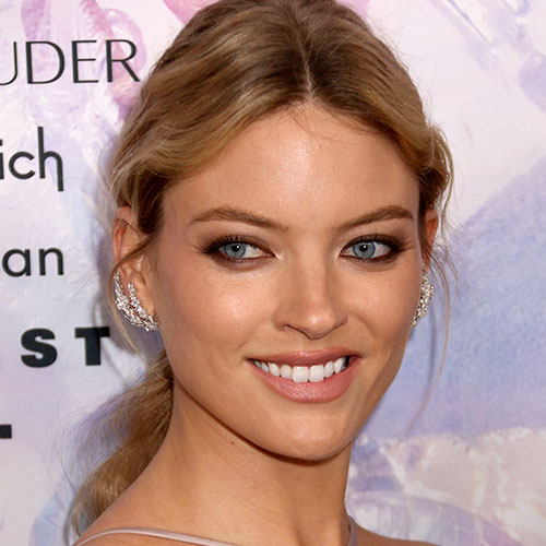We've Never Seen Martha Hunt Wear A Dress THIS Sheer On Instagram—She's Basically Flashing The Camera!