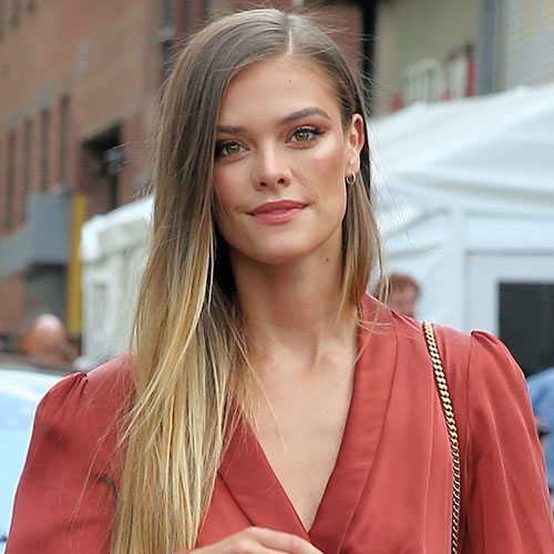 Nina Agdal's Workout Clothes Keep Getting Smaller & Smaller–This Pink Bra Is SO Tiny!
