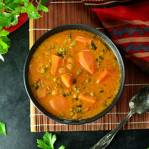 Sweet potato curry in a bowl.