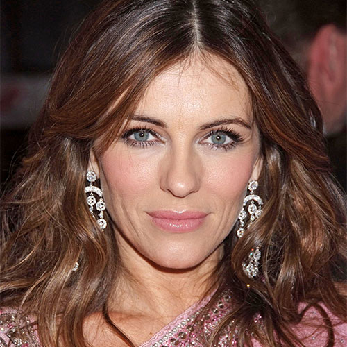 Elizabeth Hurley Just Stripped Down To A Tiny Blue Bikini--It Leaves VERY Little To The Imagination