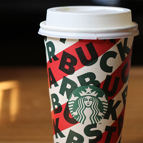 Starbucks to-go coffee cup