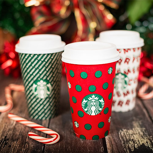 Seasonal Starbucks cups