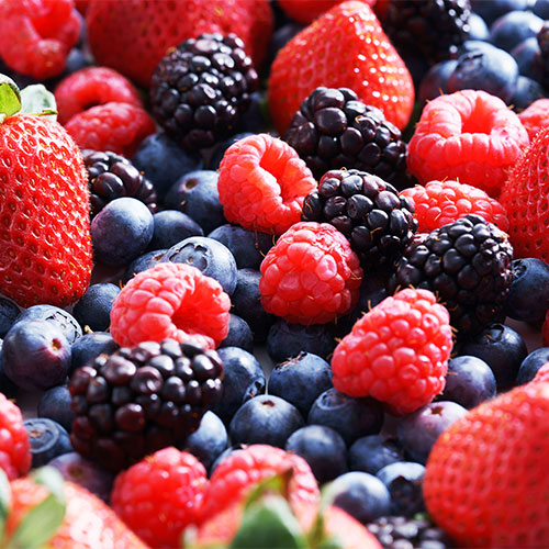berries for flat stomach