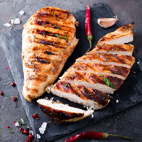 grilled chicken for flat stomach