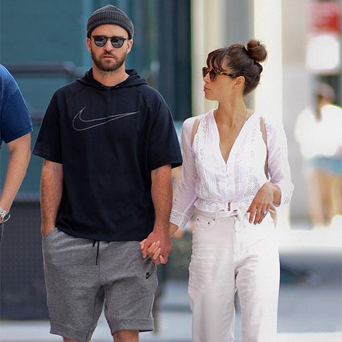 Justin Timberlake an Jessica Biel