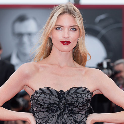 Martha Hunt's Dresses Keep Getting Shorter and Shorter--This Sparkly Gold One is Insane!