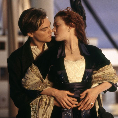 Jack and Rose from The Titanic.