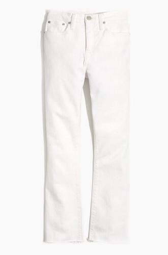 Demi-Boot Jeans in Pure White