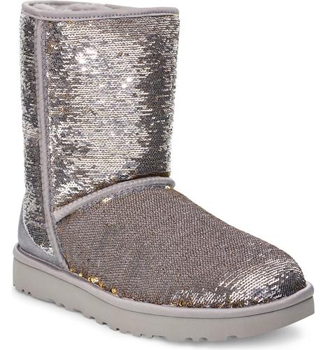 Sequin Short Boot