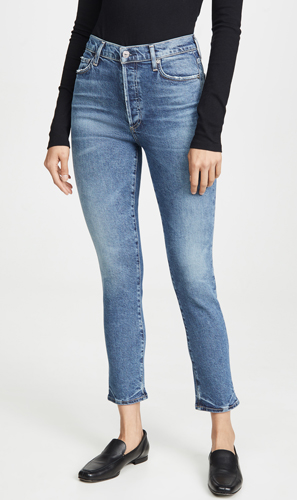 Rise Slim Ankle Jeans