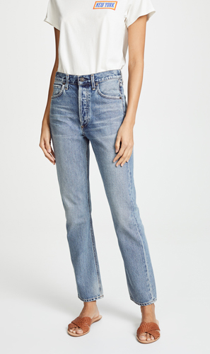 Rise Straight Jeans