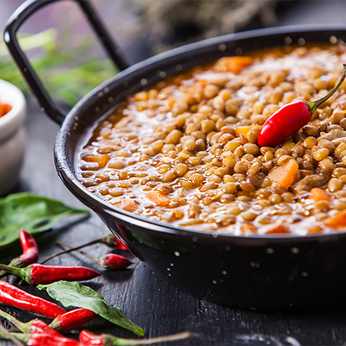 Moroccan Sweet Potato Lentil Soup