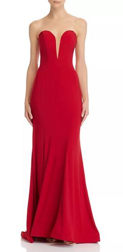 Strapless Bustier Gown