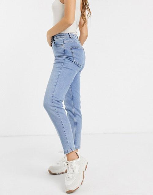 waist mom jean