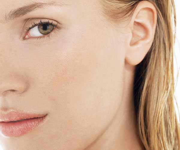 close up woman's face