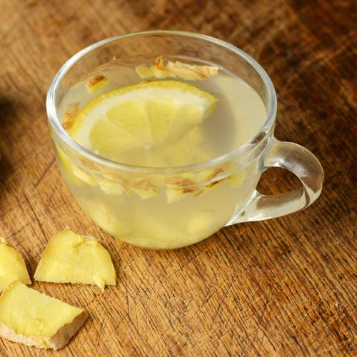 ginger tea and lemon