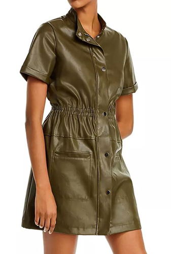 Leather Utility Dress