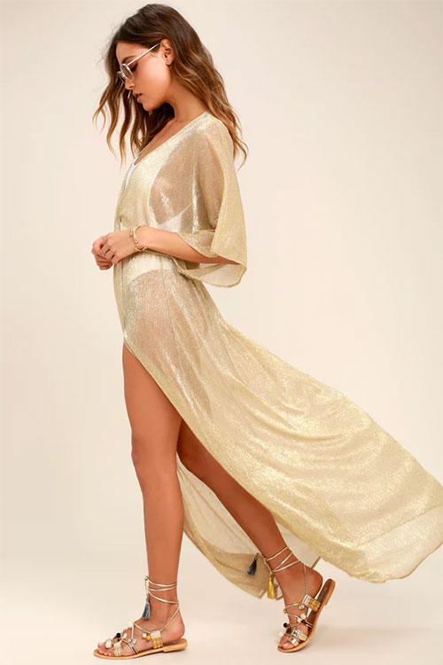 Gold Maxi Cover-Up