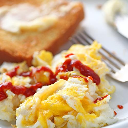 hot sauce on eggs