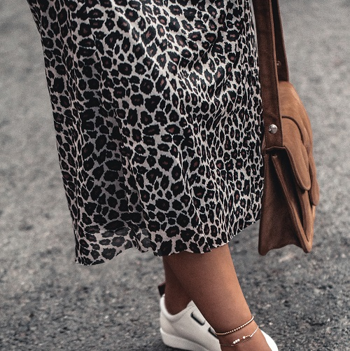 This Super Flattering Satin Midi Skirt Just Went On Sale--It's Only $34!