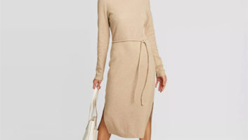The Super Flattering Sweater Dress You Should Buy Immediately At Target While It's $28 & Still In Stock!
