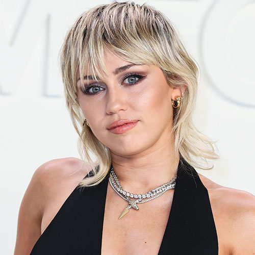 We Can T Believe Miley Cyrus Got Away With Wearing This Super Low Cut Dress Shefinds