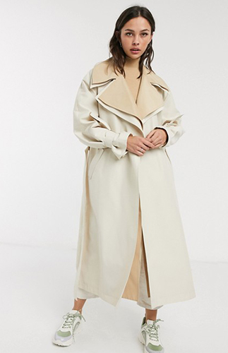 Layer Oversized Trench Coat