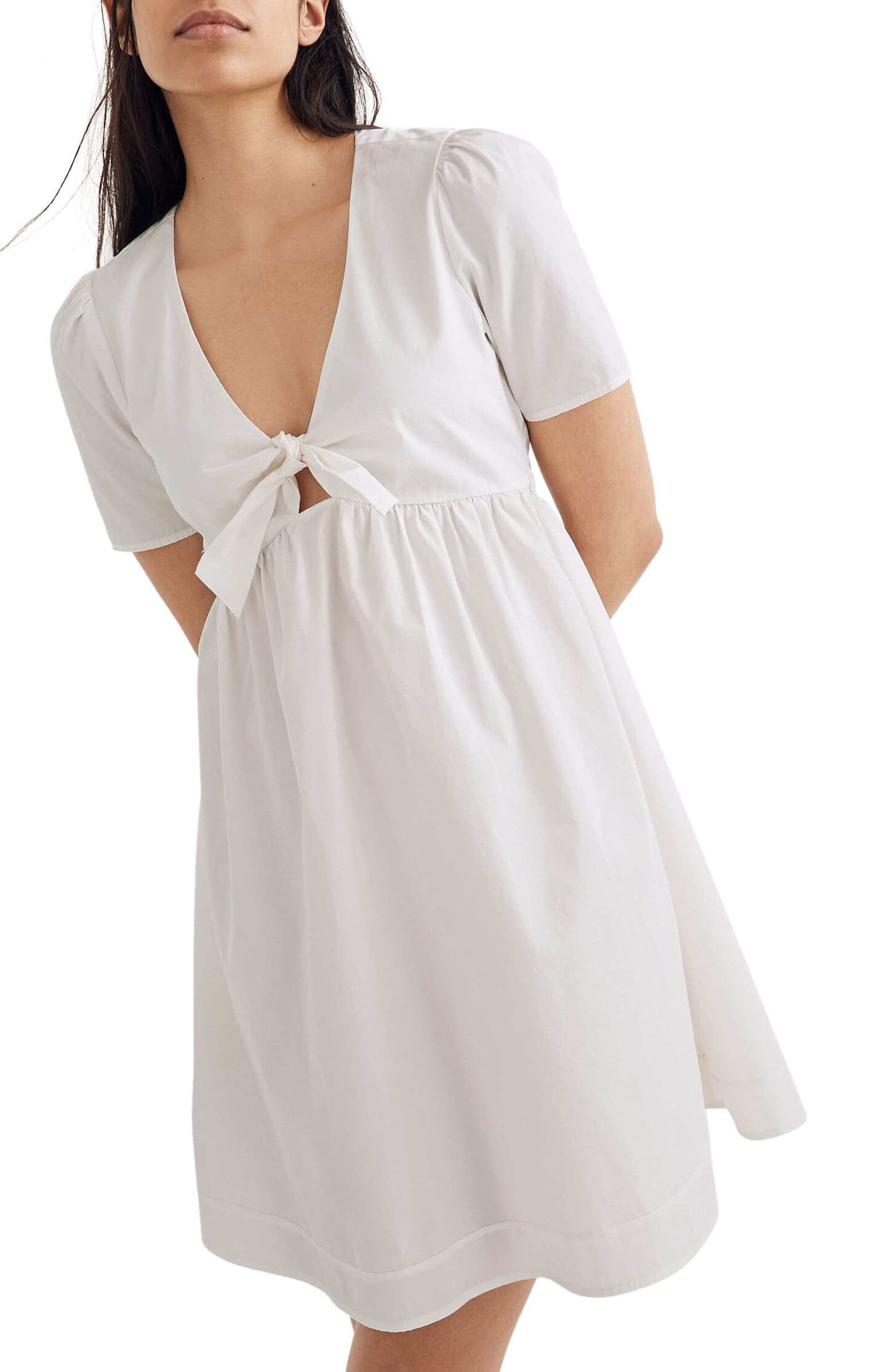 madewell tie front sundress