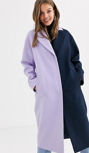 Design Color Block Coat