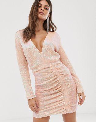 Ruched Side Mini Dress
