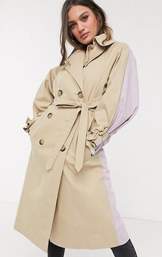 Tie Sleeve Trench Coat