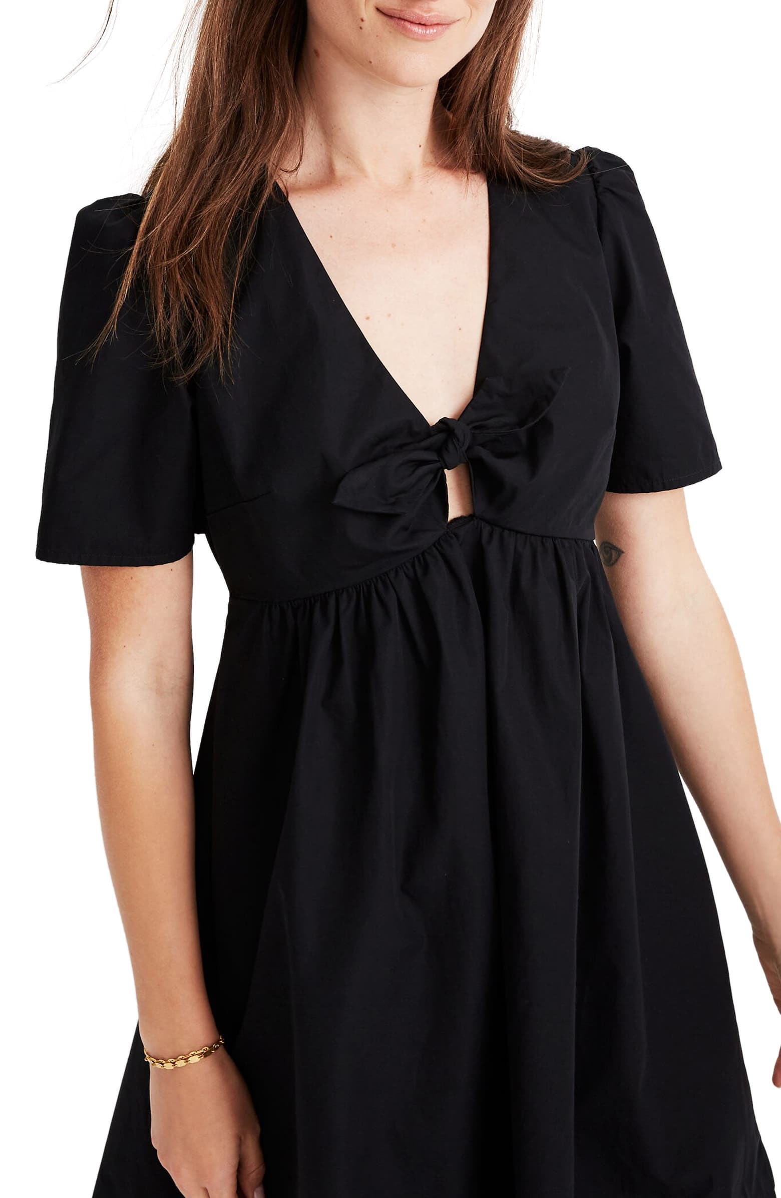 madewell tie front minidress