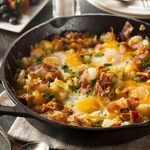 bacon egg skillet
