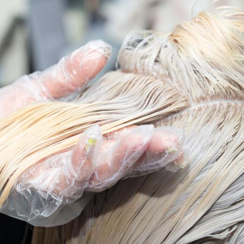 bleached hair