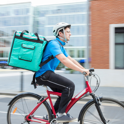 food delivery on bike